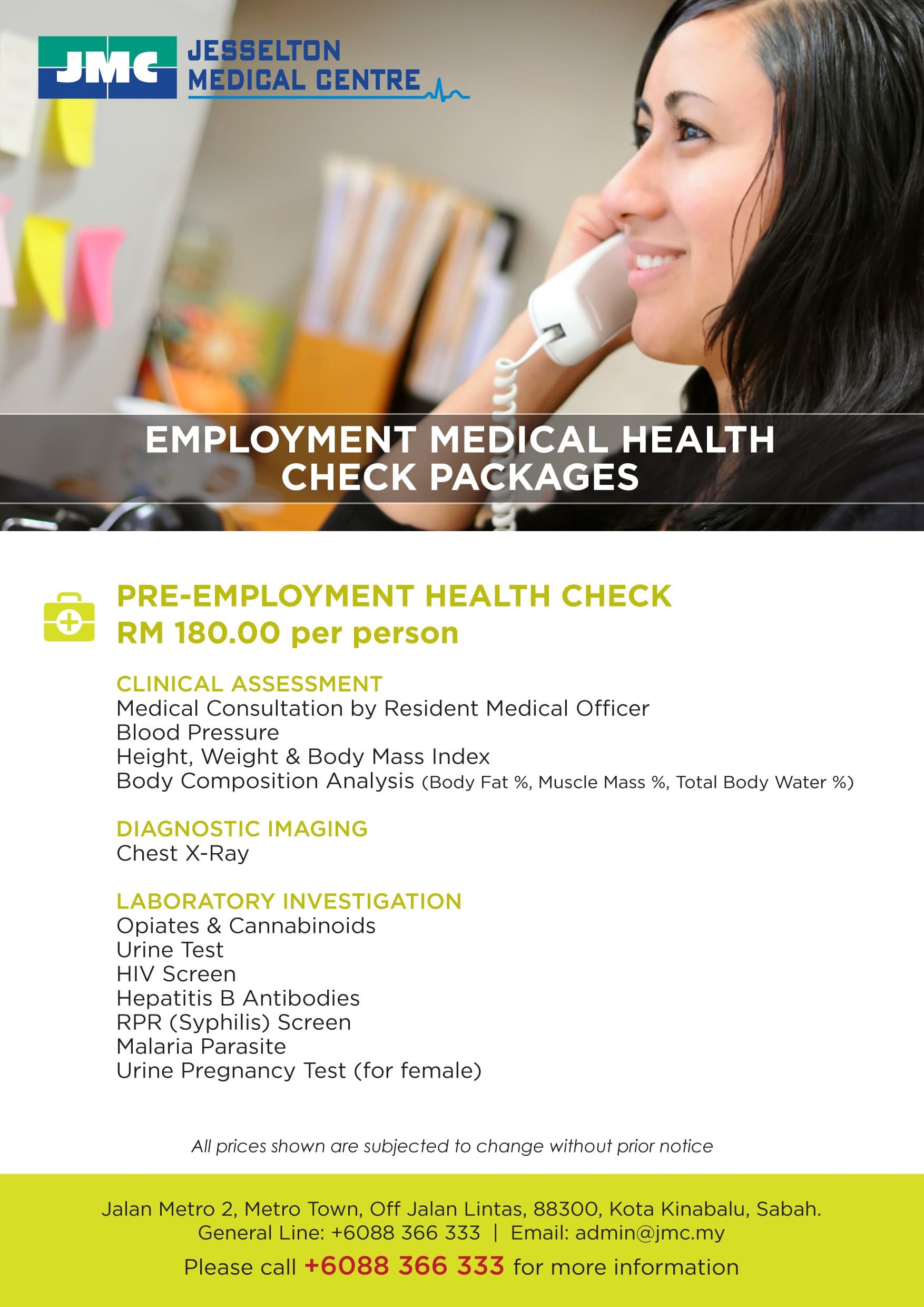 Employment Medical Health Check Packages